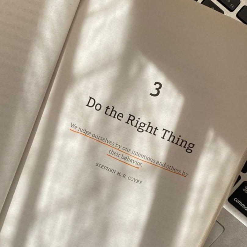 Página do livro Extreme Trust, abertura da parte 3: Do The Right Thing