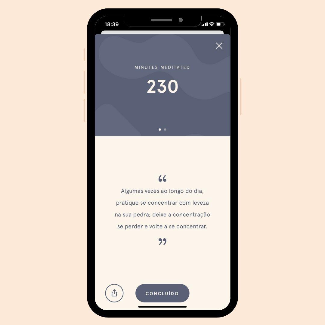 App HeadSpace: 230 minutos meditados