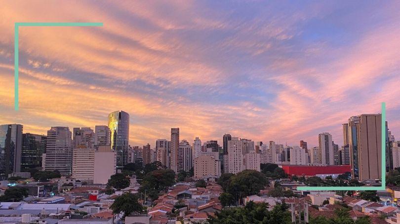 Foto de pôr-do-sol em São Paulo
