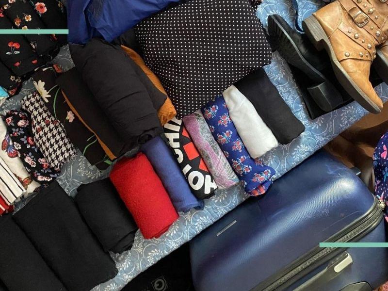 Planejando a primeira viagem do gap year: foto da mala para Copenhagen