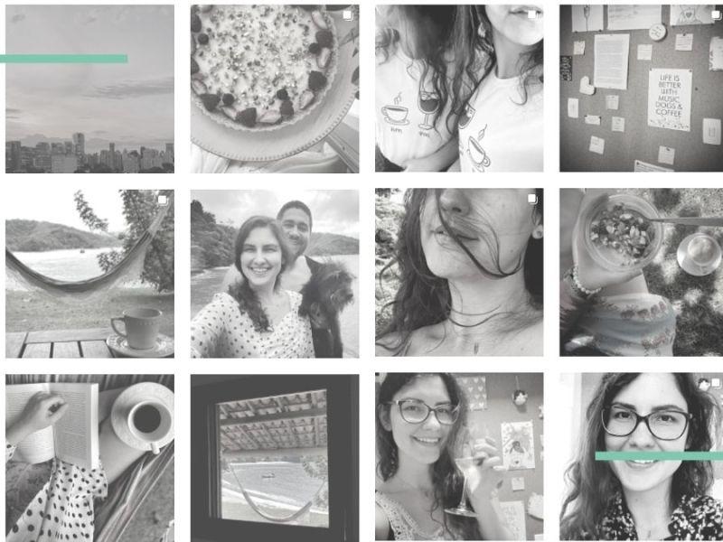 Mosaico de fotos de redes sociais